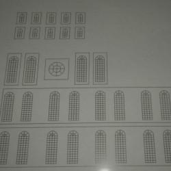 Kerk in 1:72 - blank glas-in-lood - papieren bouwplaat