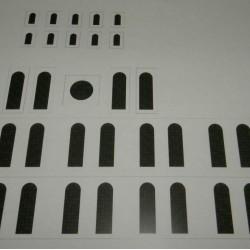Kerk in 1:72 - gekleurd glas-in-lood - papieren bouwplaat