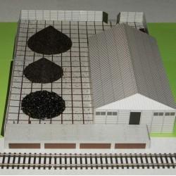 Kolenhandel diorama in N (1:160) - papieren bouwplaat
