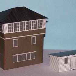 Seinhuis in schaal N (1:160) - papieren bouwplaat