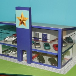 Showroom in h0 (1:87) - hybride model