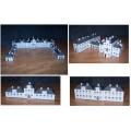 Slot en overheidsgebouwen in h0 (1:87) - papieren bouwplaten