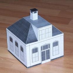 Verbindingsgebouw met één verdieping in h0 (1:87) - papieren bouwplaat