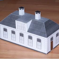 Vleugel met één verdieping in h0 (1:87) - papieren bouwplaat