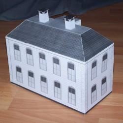 Vleugel met twee verdiepingen in h0 (1:87) - papieren bouwplaat
