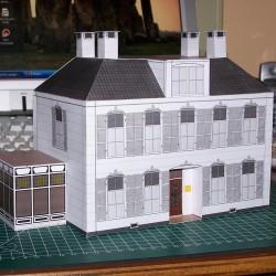 Villa met serre in 1:50 - papieren bouwplaat