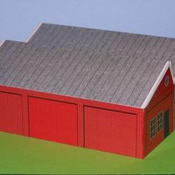 Werkplaats in N (1:160) - papieren bouwplaat