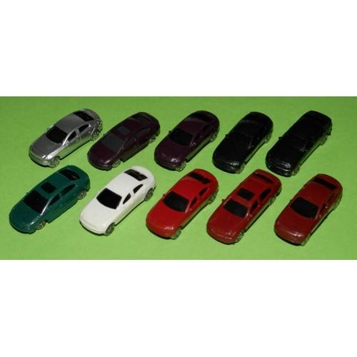 10 Modelauto's in schaal N (1:160)
