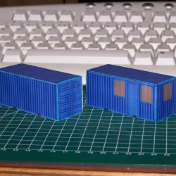 2 Bouwcontainers in N (1:160) - papieren bouwplaat