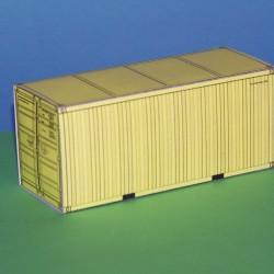 2 Gele 20 voets containers in N (1:160) - papieren bouwplaat