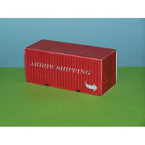 2 Rode 20 voet containers ASC in N (1:160) - bouwplaat