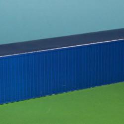 Blauwe 40 voet container in h0 (1:87) - papieren bouwplaat