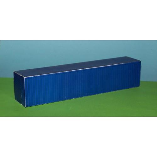 2 Blauwe 40 voets containers in N(1:160) - papieren bouwplaat