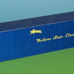 2 Blauwe containers YSL in N (1:160) - papieren bouwplaat