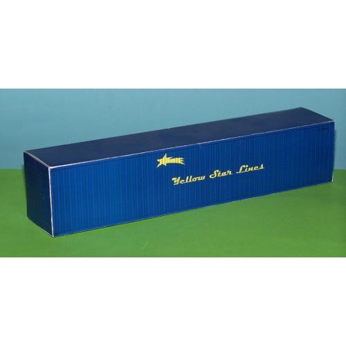 Blauwe 40 voet container YSL in 1:50 - papieren bouwplaat