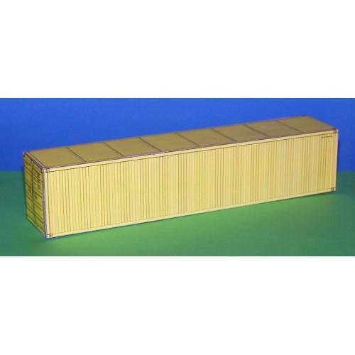 2 Gele 40 voet containers in N (1:160) - papieren bouwplaat