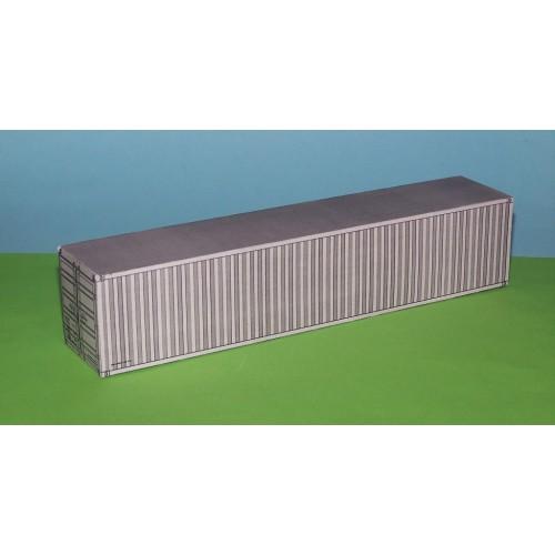 2 Grijze 40 voet containers in N (1:160) - papieren bouwplaat