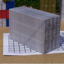 6 Grijze 40 voets containers in 1:50 - papieren bouwplaat