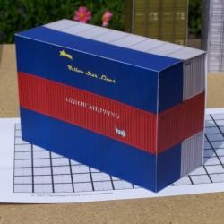 6 40 Voet containers in 1:50 - set A - papieren bouwplaat
