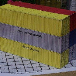 6 40 voets containers in 1:50 - set B - papieren bouwplaat