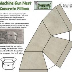 Japanse bunker - model B - papieren bouwplaat in 1:100