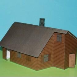 Russisch dorpshuis in 1:100 - model C, zomer uitvoering