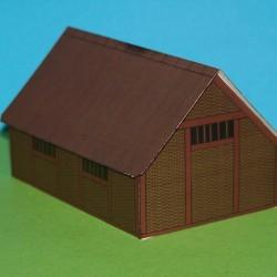 Middeleeuwse boerderij in 1:56 - papieren bouwplaat