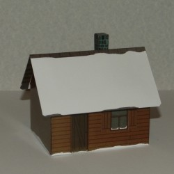 Russisch dorpshuis in 1:72 - model A, winter uitvoering