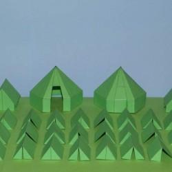 Groene leger tenten in 1:100 - set A