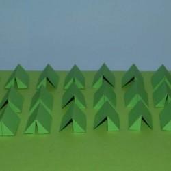 Groene leger tenten in 1:100 - set B