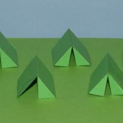 Groene leger tenten in 1:56 (28mm) - set B