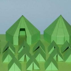 Groene legertenten in 1:72 - set A