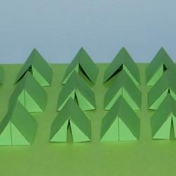 Groene legertenten in 1:72 - set B