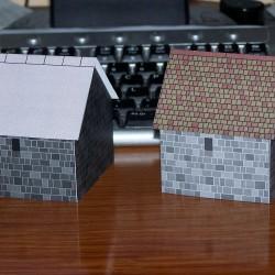 2 Stenen schuren voor Warhammer e.d. - papieren bouwplaat