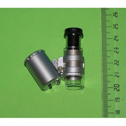 Miniatuur microscoop - 60x - wit en UV licht