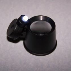 Oogloep met LED-verlichting
