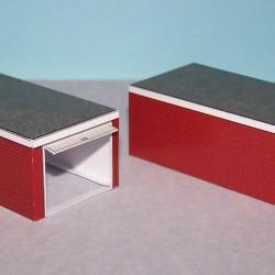 2 Autoboxen in N (1:160) - papieren bouwplaat