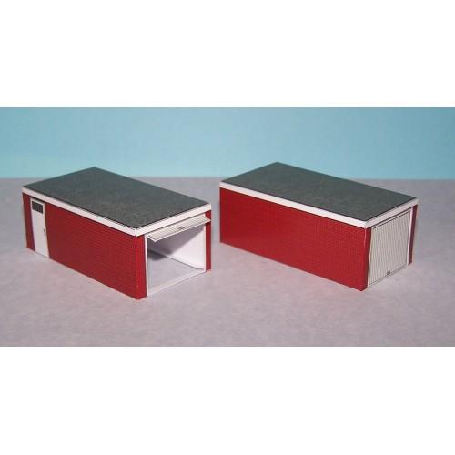 2 Autoboxen in Z (1:220) - papieren bouwplaat