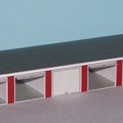 6 Autoboxen in schaal Z (1:220) - papieren bouwplaat