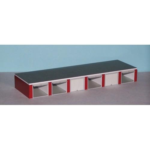 6 Autoboxen in N (1:160) - papieren bouwplaat