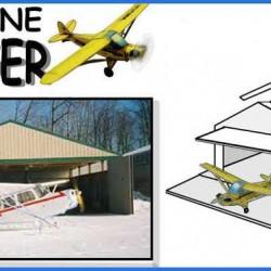 Hangaar voor modelvliegtuigen in N (1:160) - papieren bouwplaat