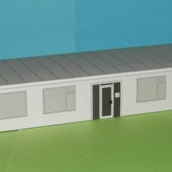 Kantoor, kalkzandsteen in N (1:160) - papieren bouwplaat