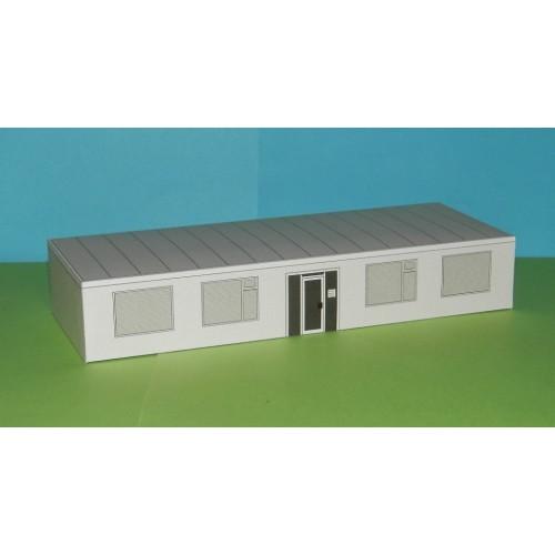 Kantoor, kalkzandsteen, in h0 (1:87) - papieren bouwplaat