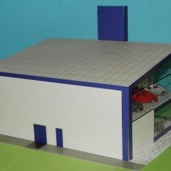 Showroom in N (1:160) - hybride bouwplaat