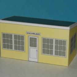 Wachtruimte in Z (1:220) - papieren bouwplaat