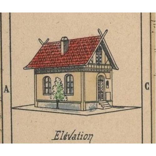 Duits arbeidershuis in h0 (1:87)