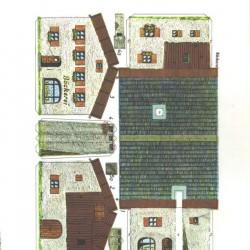Duitse bakkerij in N (1:160) - oude papieren bouwplaat