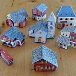 Frans dorp in N (1:160) - oude papieren bouwplaat