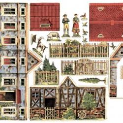 Boerderij in 1:48 - oude papieren bouwplaat