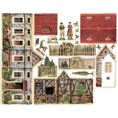 Boerderij in 1:35 - oude papieren bouwplaat
